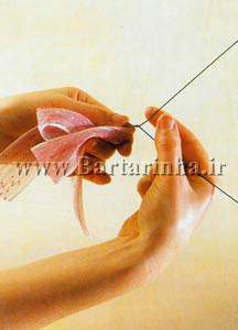 image آموزش تصویری و جالب درست کردن پاپیون با تور برای موهای بانوان
