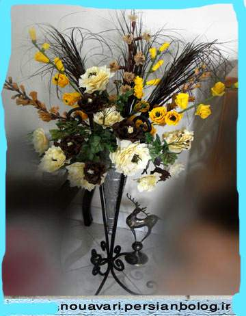 image آموزش قدم به قدم تصویری ساخت گل های زیبا با کاغذ کشی