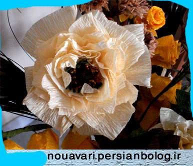 عکس, آموزش قدم به قدم تصویری ساخت گل های زیبا با کاغذ کشی