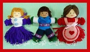 image آموزش قدم به قدم ساختن عروسک در خانه با کاموا های اضافی