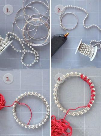 image آموزش جالب عکس به عکس ساخت دستبند مروارید در ۳ مدل