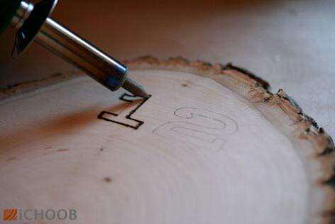 image آموزش عکس به عکس درست کردن یک ساعت چوبی زیبا در خانه