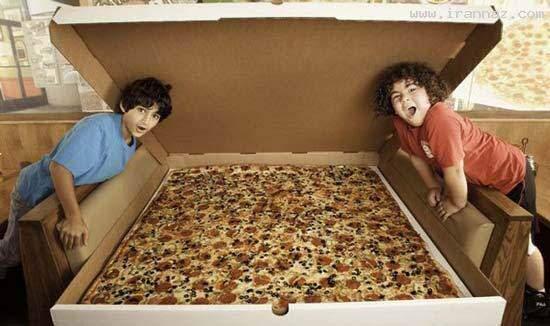image عکس بزرگترین پیتزای جهان کتاب رکوردهای گینس
