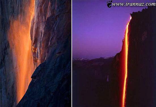 image عکس های باور نکردنی از یک آبشار آتشین در جهان