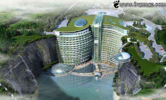 image, عکس های مراحال ساخت یک هتل زیرزمینی در چین