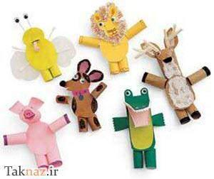 image آموزش عکس به عکس ساخت عروسک های انگشتی رنگی برای کودکان