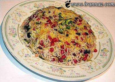 image غذای مخصوص شب یلدا انار پلو به همراه آموزش پخت