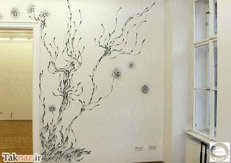 image نقاشی های زیبا با زغال توسط انگشتان دست