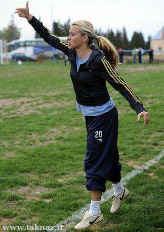 image انتخاب یک ملکه زیبائی به عنوان مربی فوتبال کرواسی