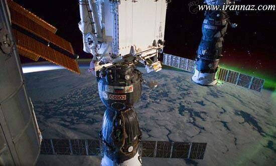 image عکس جالب سپیده دم ثبت شده از ایستگاه فضایی