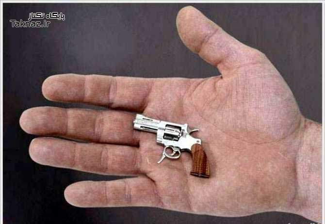 image عکس های عجیب از کوچک ترین تفنگ ساخته شده