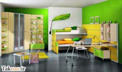 image راهنمای  انتخاب رنگ مناسب برای دیوار اتاق های خانه