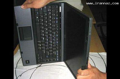 image گزارش تصویری از موارد استفاده جالب و بامزه از یک لپ تاپ