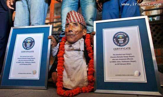image کوتاه قدترین آدم دنیا در کتاب رکوردهای گینس
