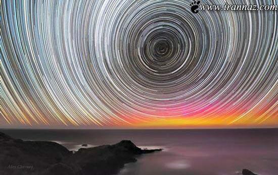 image عکس جالب چرخ ستاره ها در طول یک شب