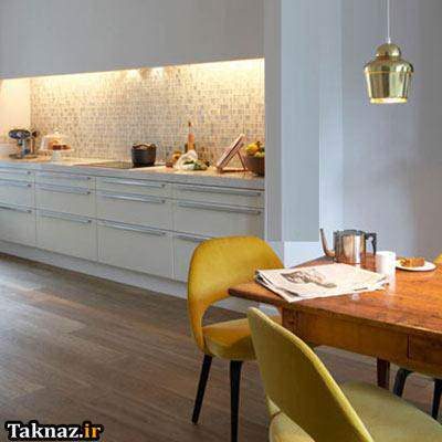 image, طراحی مدرن آشپزخانه با نور و چراغ ۲۰۱۳