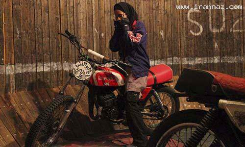 image گزارش تصویری از موتورسواری نگار مدنی بر دیوار مرگ