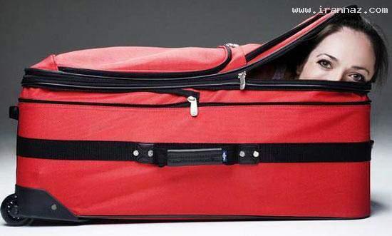 image کتاب رکوردهای گینس  عکس زودترین زمان رفتن داخل چمدان