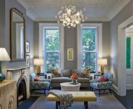 image آموزش دکوراسیون اتاق نشیمن در خانه با رنگ های گرم