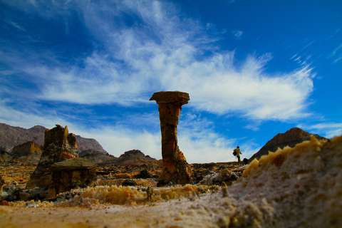image عکس های دیدنی گنبد نمکی جاشک بوشهر زیباترین گنبد نمکی ایران