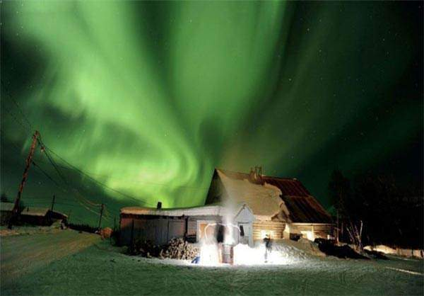 image تصویری از شفق قطبی آلاسکا