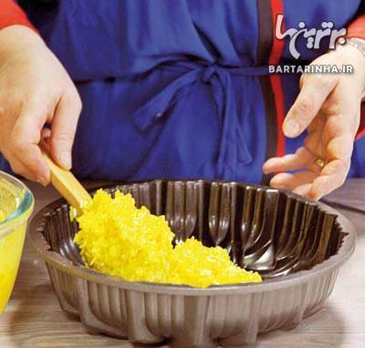 image آموزش کامل و عکس به عکس با توضیحات پخت ته چین بادمجان