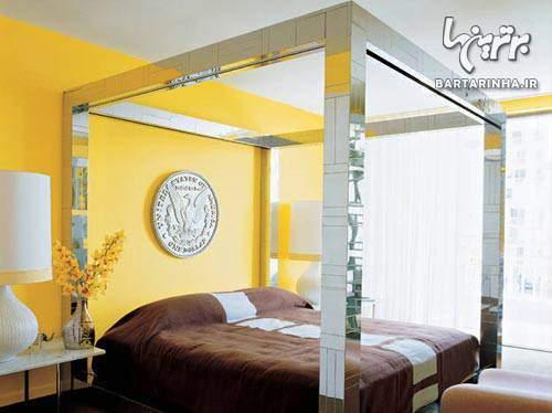 image جدیدترین مدل های دکوراسیون و چیدمان اتاق خواب رنگ روشن