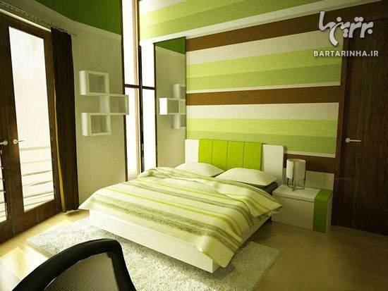 image توصیه های جدید و جالب رنگ آمیزی اتاق خواب