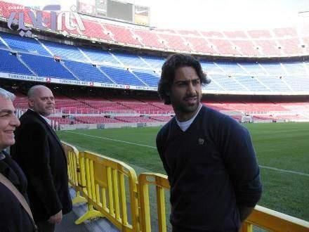 image عکس های دیدنی فرهاد مجیدی در باشگاه بارسلونا