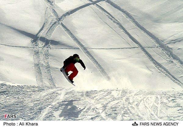 image گزارش تصویری زیبا از پیست اسکی دیزین آذر ماه