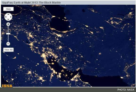 image عکس بی نظیر ناسا از زیباییهای شب سیاره زمین در فضا