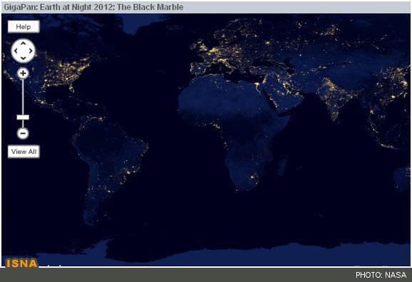 image, عکس بی نظیر ناسا از زیباییهای شب سیاره زمین در فضا
