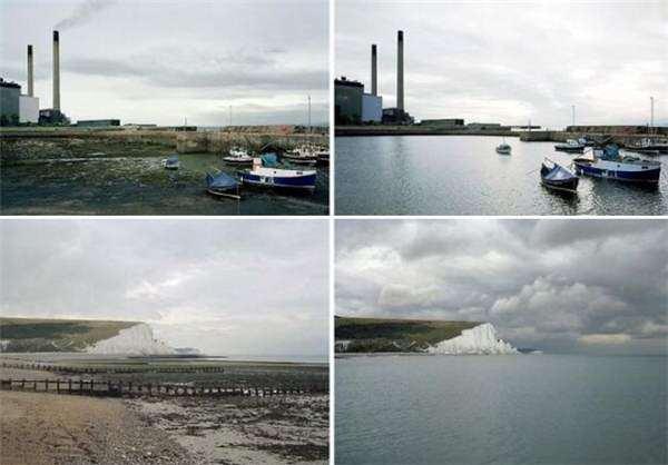 image عکس های جالب جزر و مد دریا در سواحل انگلستان