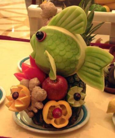 image مدل جدید چیدن میوه های مهمانی کودکان