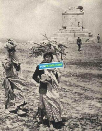 image عکسی کمیاب از مقبره کوروش بزرگ در عهد قاجاریه