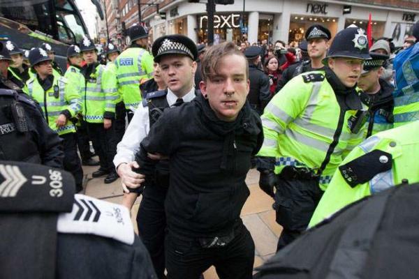 image تظاهرات علیه سیاست های ریاضت اقتصادی در انگلیس