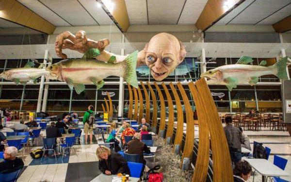image دکوراسیون داخلی جالب فرودگاه ولینگتون نیوزیلند