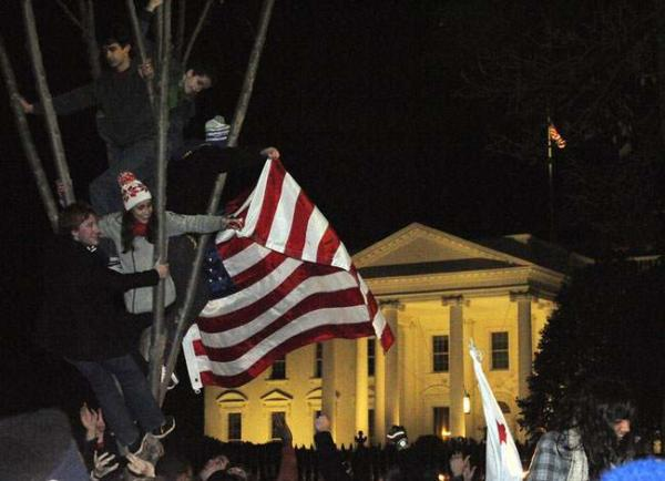 image اجتماع حامیان اوباما در مقابل کاخ سفید
