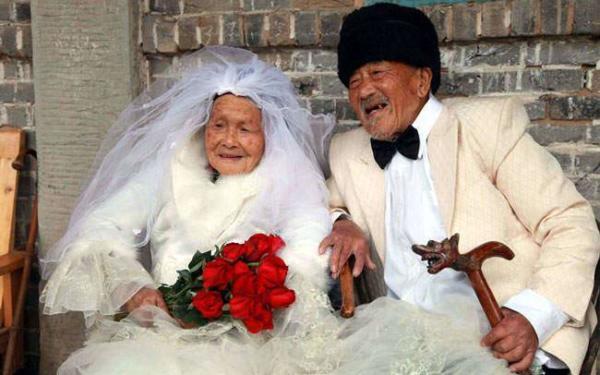 image عکس های عروسی زوج چینی ۸۸ ساله دیدنی