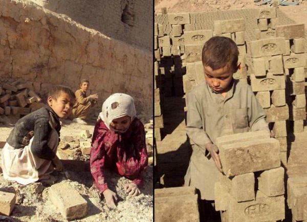 image, کار کودکان در کارگاه های آجرپزی در افغانستان