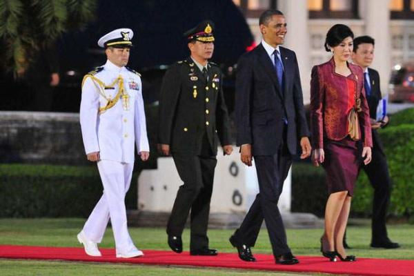 image, مراسم استقبال رسمی از اوباما در تایلند