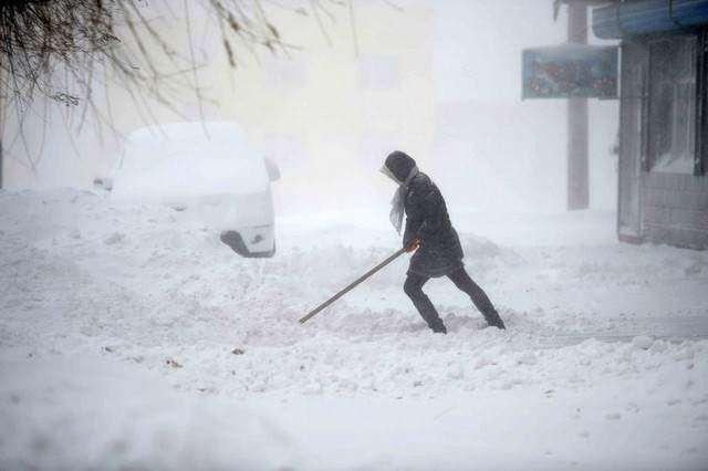 image بارش برف سنگین در چین