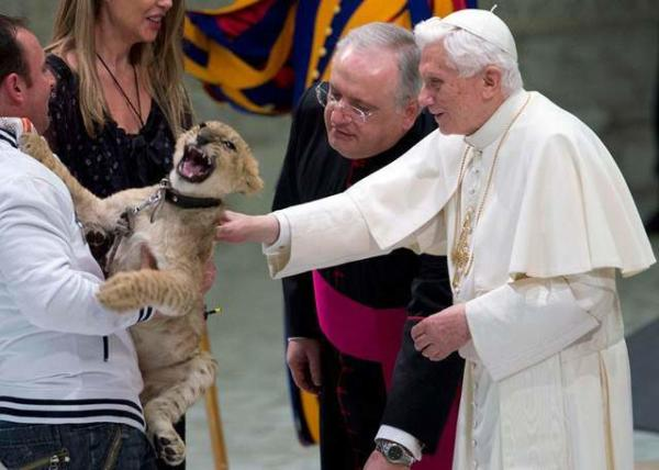 image دیدار پاپ با هنرمندان سیرک در واتیکان