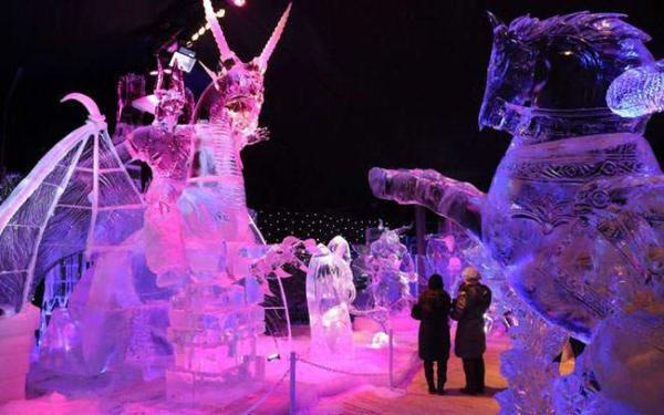 image جشنواره سازه های برفی و یخی در بلژیک