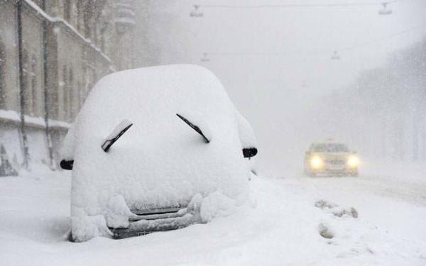 image بارش برف سنگین در استکهلم سوئد