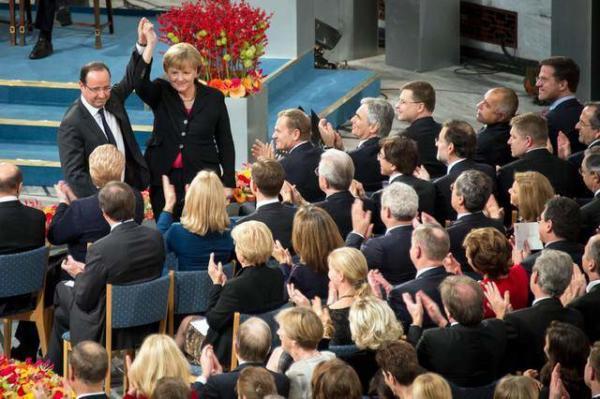 image مراسم اعطای جایزه نوبل صلح ۲۰۱۲ به اتحادیه اروپا