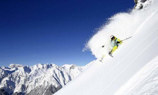 image اسکی در کوه های اتریش