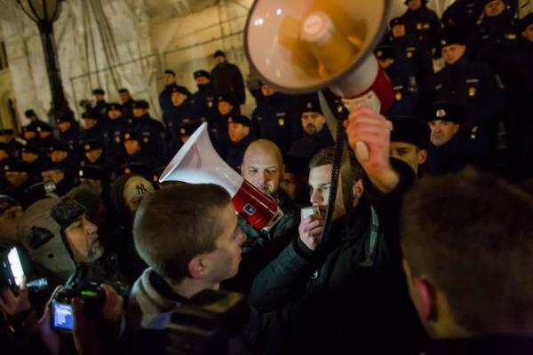 image تظاهرات دانشجویان مجارستانی علیه سیاست های دولت کاهش بودجه آموزشی