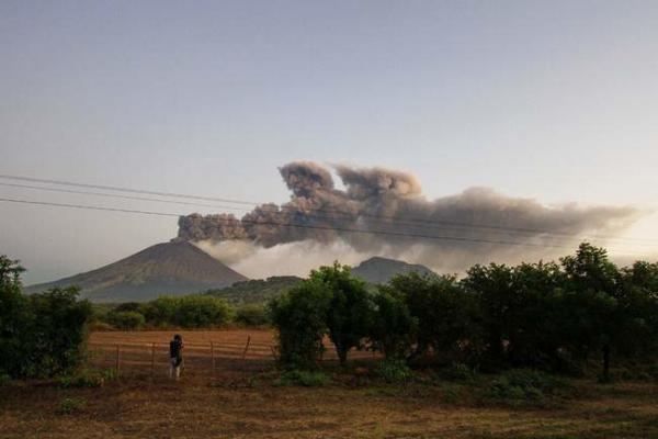 image فعالیت یک آتشفشان در نیکاراگوئه