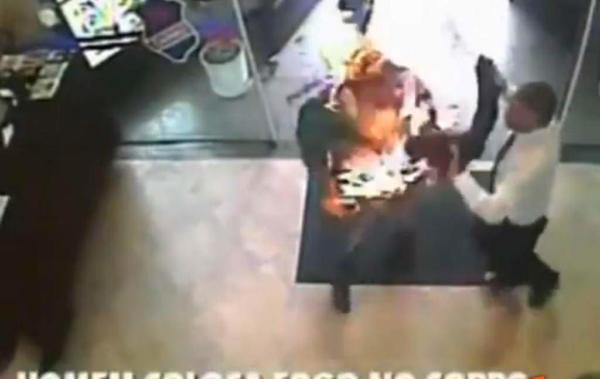 image گزارش لحظه به لحظه از سوختن یک مرد در آتش زنده زنده